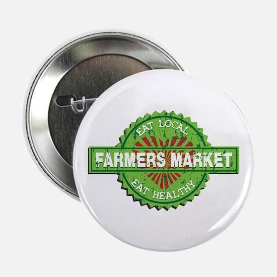 "Farmers Market Heart 2.25"" Button"