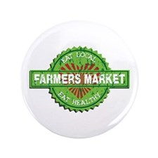 "Farmers Market Heart 3.5"" Button"