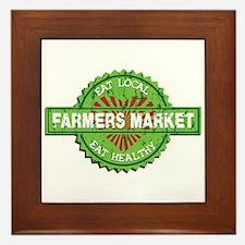 Farmers Market Heart Framed Tile