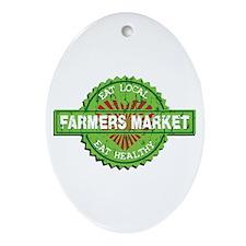 Farmers Market Heart Ornament (Oval)