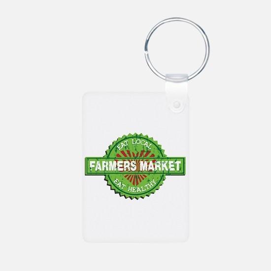 Farmers Market Heart Keychains