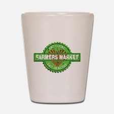 Farmers Market Heart Shot Glass