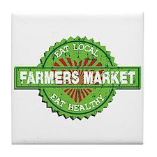 Farmers Market Heart Tile Coaster