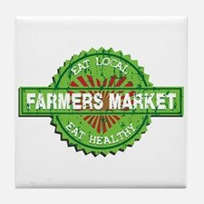 Farmers Market Heart Tile Coaster