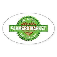 Farmers Market Heart Decal