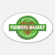 Farmers Market Heart Sticker (Oval)