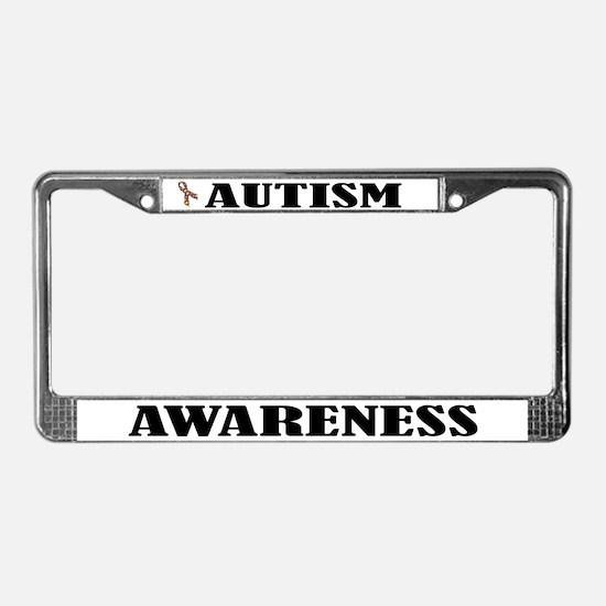 Autism Awareness License Plate Frame