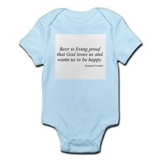 Benjamin Franklin quote 26 Infant Creeper