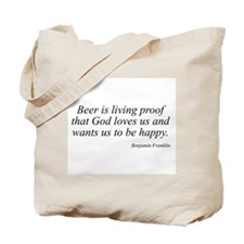 Benjamin Franklin quote 26 Tote Bag