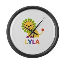 Lyla the Lion Large Wall Clock
