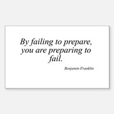 Benjamin Franklin quote 30 Rectangle Decal