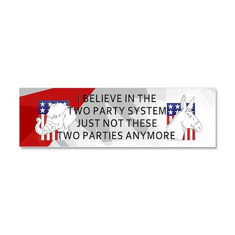 New Politics Car Magnet 10 x 3