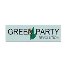 Green Party Car Magnet 10 x 3