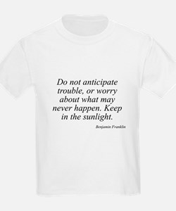 Benjamin Franklin quote 36 Kids T-Shirt