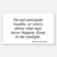 Benjamin Franklin quote 36 Rectangle Decal