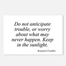 Benjamin Franklin quote 36 Postcards (Package of 8