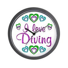 I Love Diving Wall Clock