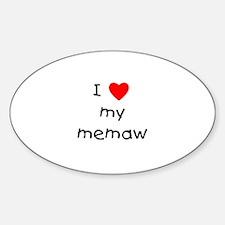 I love my memaw Oval Decal
