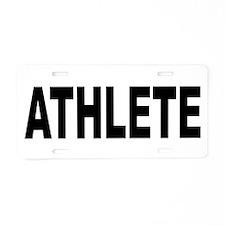 Athlete Aluminum License Plate
