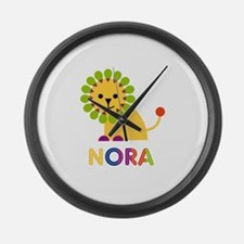 Nora the Lion Large Wall Clock