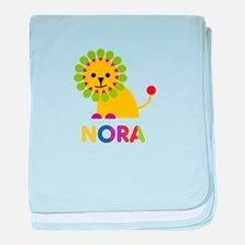 Nora the Lion baby blanket