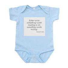 Benjamin Franklin quote 42 Infant Creeper
