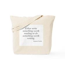 Benjamin Franklin quote 42 Tote Bag