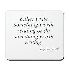 Benjamin Franklin quote 42 Mousepad