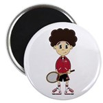"Cute Tennis Boy 2.25"" Magnet (100 Pk)"