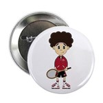 "Cute Tennis Boy 2.25"" Button (10 Pk)"