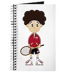 Cute Tennis Boy Journal