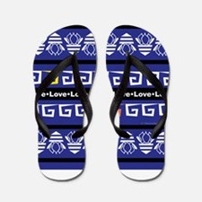 Unique Navy love Flip Flops
