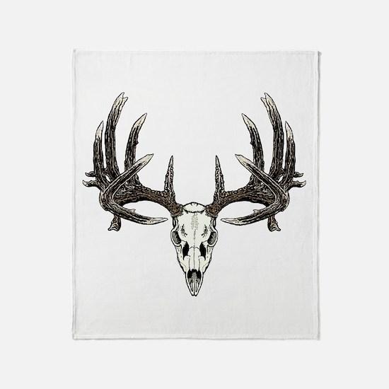 Big whitetail buck Throw Blanket
