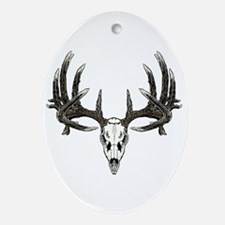 Big whitetail buck Ornament (Oval)