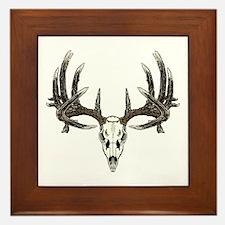 Big whitetail buck Framed Tile