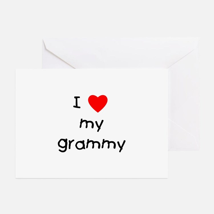 I love my grammy Greeting Cards (Pk of 10)