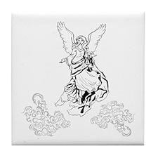 Classic Angel in Heaven Tile Coaster