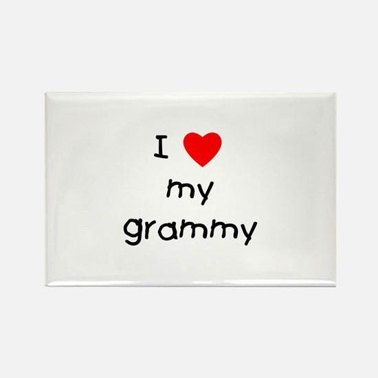 I love my grammy Rectangle Magnet
