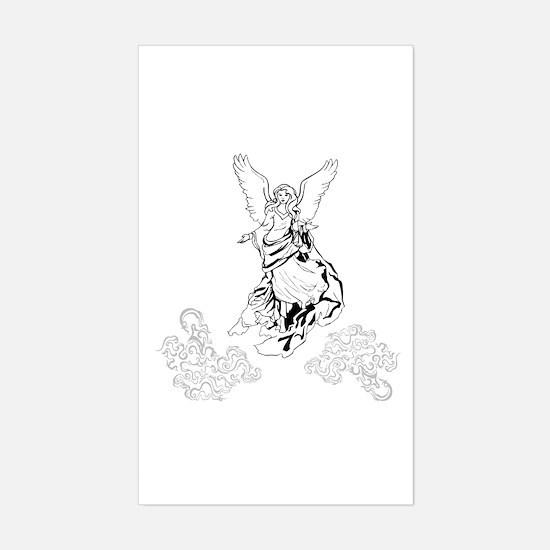 Classic Angel in Heaven Sticker (Rectangle)