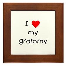 I love my grammy Framed Tile