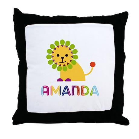 Amanda the Lion Throw Pillow