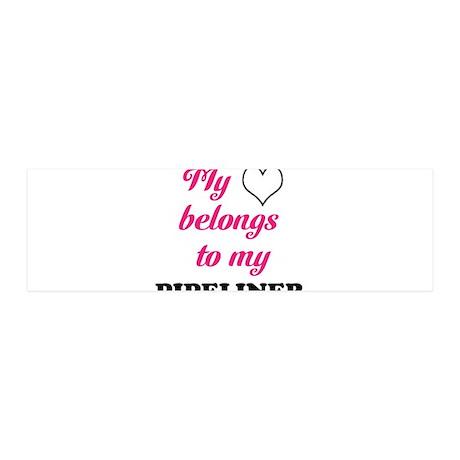 My Heart Belongs to my Pipeli 42x14 Wall Peel