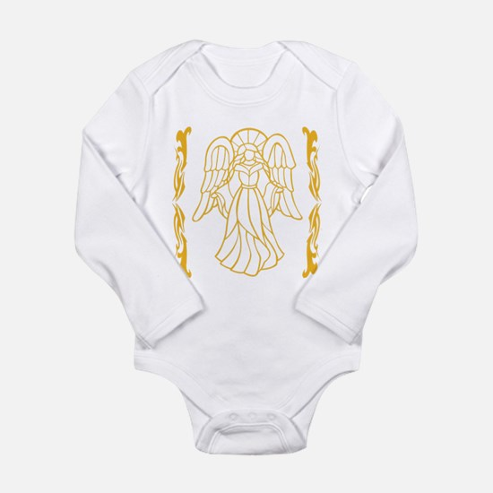 Gold Color Angel Long Sleeve Infant Bodysuit