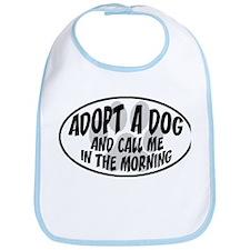 Adopt a Dog White Oval Bib