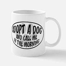 Adopt a Dog White Oval Mug
