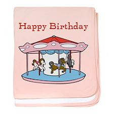Happy Birthday. Carousel baby blanket