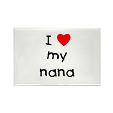 I love my nana Rectangle Magnet