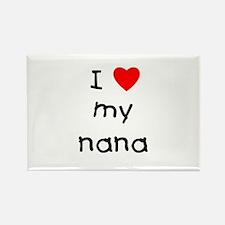 I love my nana Rectangle Magnet