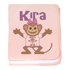Little Monkey Kira baby blanket