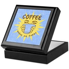 Coffee Wakes Me Happy Keepsake Box